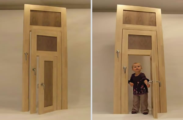 One door is too big. The other one is too small. One is juuuust right! Check out this Goldilocks door (or is it doors? It\u0027s three doors in one!) from ... & The Goldilocks Door - Neatorama