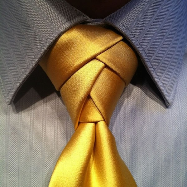 Three exotic necktie knots to try the eldredge knot the trinity how to tie the eldredge knot ccuart Image collections