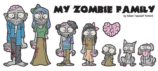 My Zombie Family Car Stickers | also available on Amazon