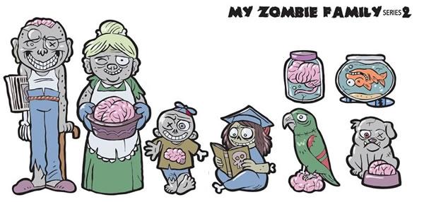 My Zombie Family Car Stickers