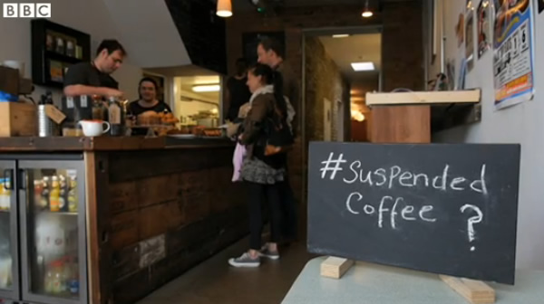 Suspended Coffee sign