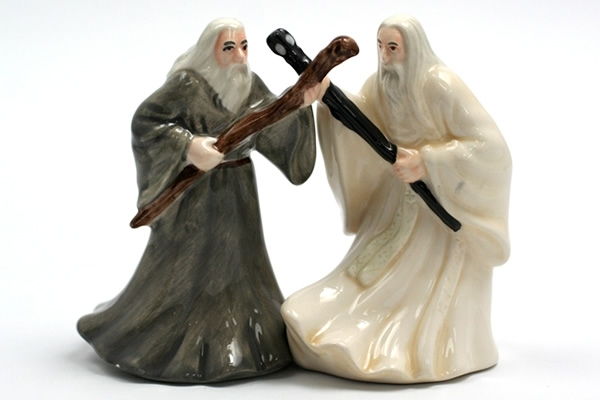 Gandalf and Saruman salt and pepper shakers