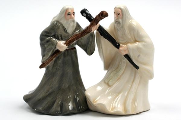 Gandalf and Saruman salt and pepper shakers