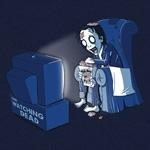 Zombie watching TV
