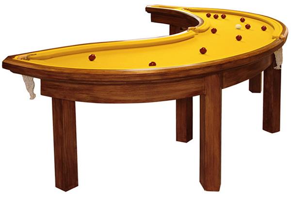 Banana Pool Table Neatorama - Hexagon pool table