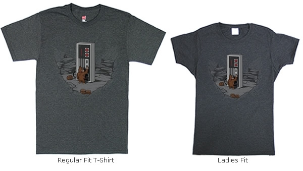 Dawn of Gaming on regular and ladies fit T-shirts