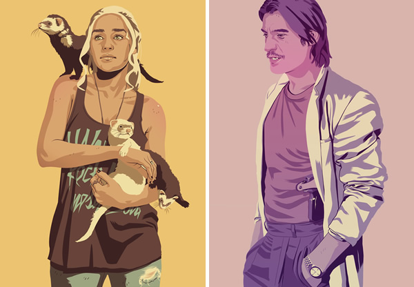 Daenerys and Jamie - Game of Thrones as 80s characters