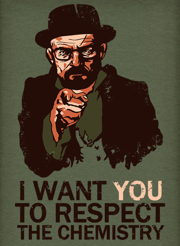 Walter White wants you to respect the chemistry