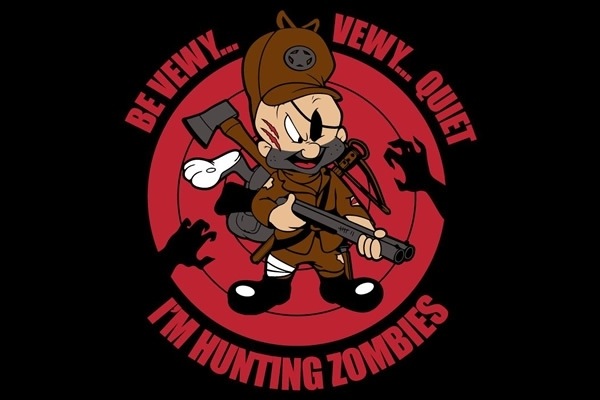 Be Very, Very Quiet ... I'm Hunting Zombies