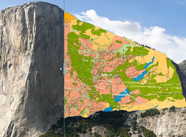 El Capitan rock map