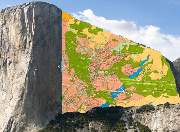 El Capitan rock map