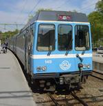 Roslagbanan train in Sweden