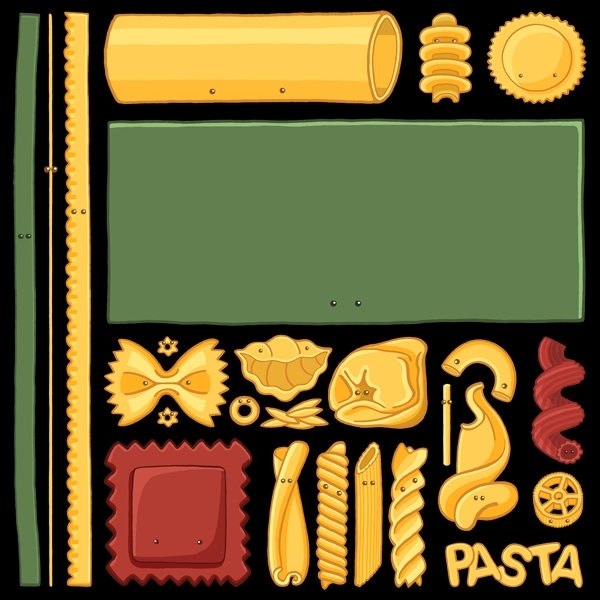 Pasta Mondrian