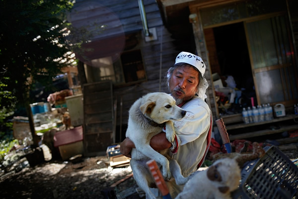 Man Refused to Evacuate Fukushima to Save 500 Abandoned Animals #Humanity must #Love #Dogs