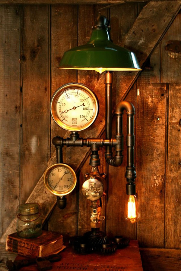 18 Gorgeous Steampunk Lamps By Machine Age Lamps Neatorama