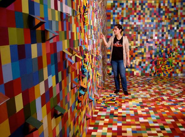 Artist Paint Colors Paint Swatch Art Installation