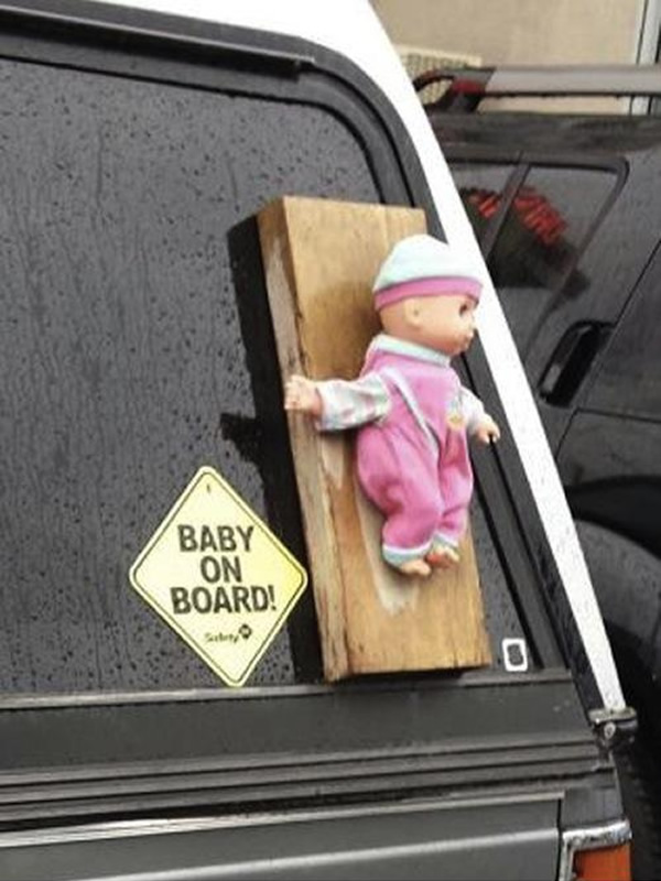 No Baby On Board Funny