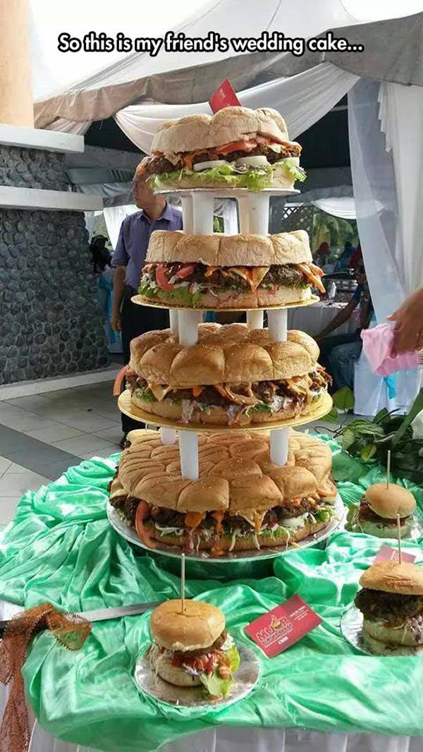 Burger Wedding Cake Neatorama