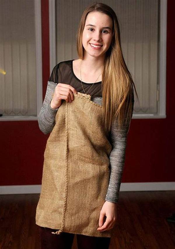 The Teenager Who Went To Prom In A Burlap Dress Neatorama