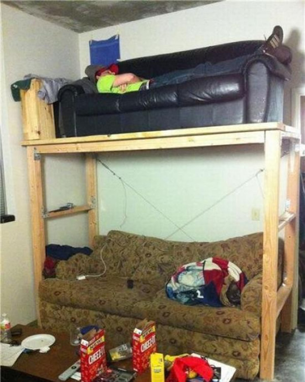 Double Decker Couch In Real Life - Neatorama