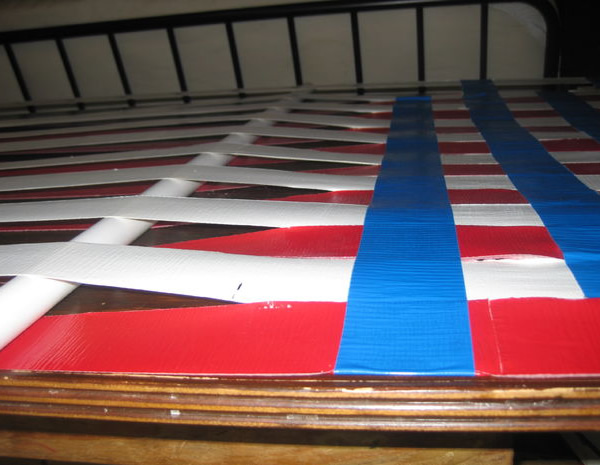 view the step by step instructions over at instructables  duct tape hammock perfect for fourth of july   neatorama  rh   neatorama