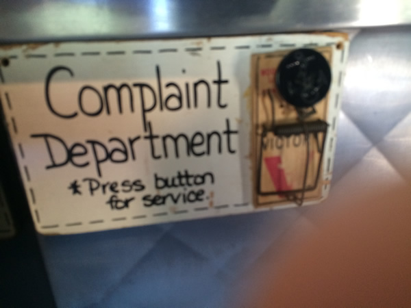 Stupid T Shirts >> Complaint Department: Press Button for Service - Neatorama