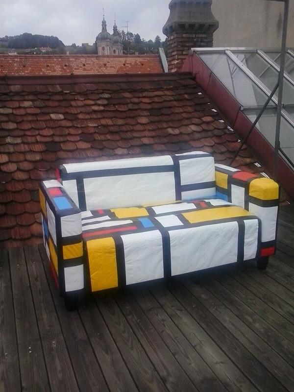 Piet Mondrian Duct Tape Sofa