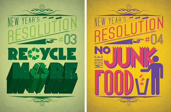 new years resolution posters neatorama