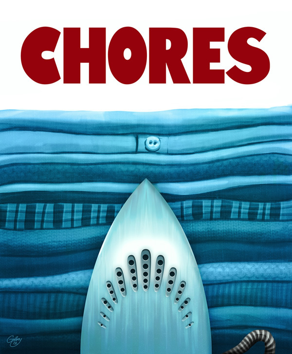 Chores are Scarier than Jaws - Neatorama