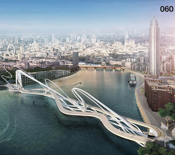 15 designs for a new london bridge look straight out of a for Architecture futuriste