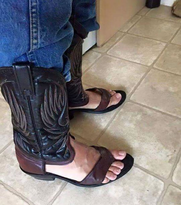 Cowboy Boot Sandals Neatorama