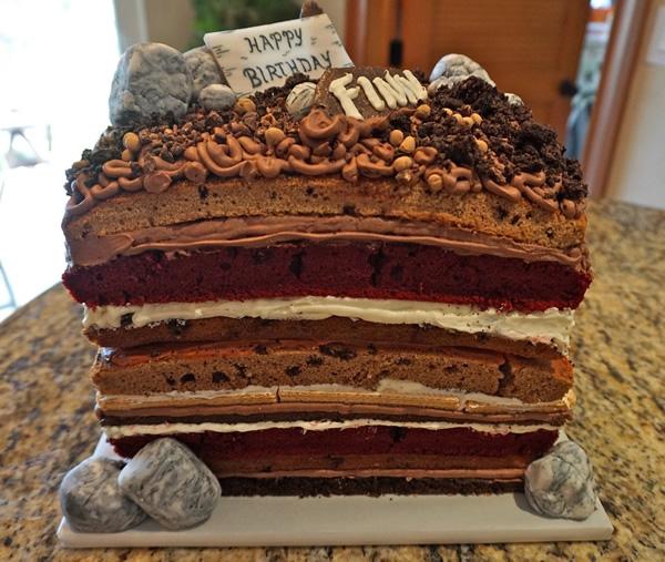 How To Make A Sedimentary Rock Cake