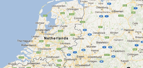 Map Of The Netherlands And Germany.The Office Building That Is Half In Germany Half In The Netherlands
