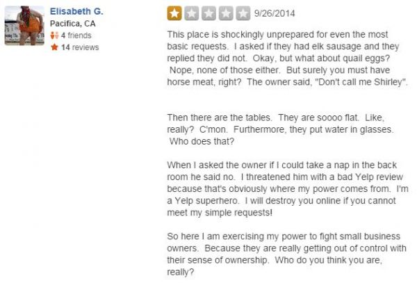 Restaurant Offers 25 For 1 Star Yelp Reviews And The Results Are Hilarious Neatorama