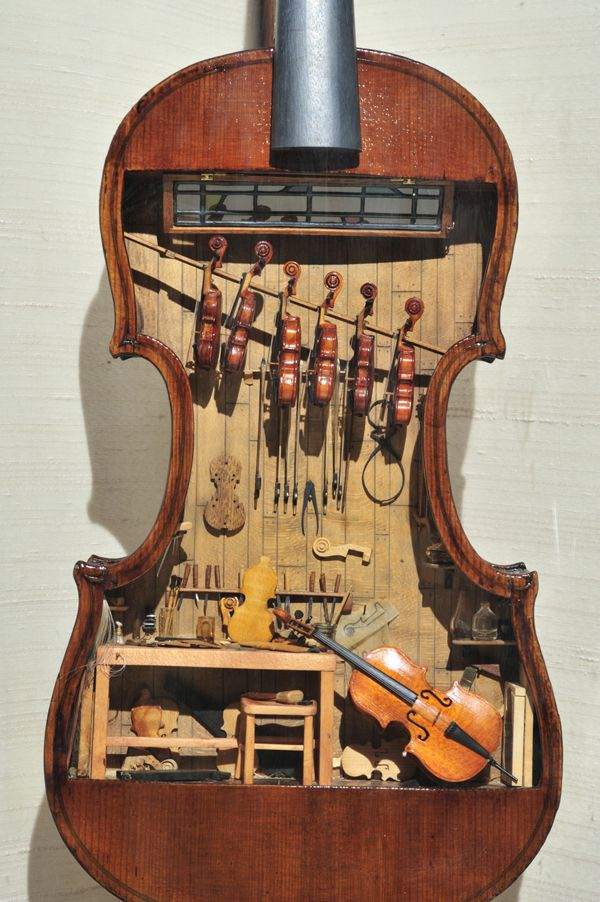 A Tiny Violin Shop inside a Violin - Neatorama