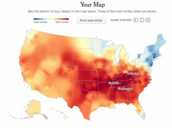 Mapping Your Dialect - Neatorama on map of american tribes, map of language, map of american culture, map of british, map of american regions, map of american slang, map of american accents, map of american race, map of scottish, map of american civilizations, map of american diversity, map of irish, map of american history, map of france, maps of linguistic dialects, map of germany, map of american food, map of pronunciation, map of english, map of american sports,