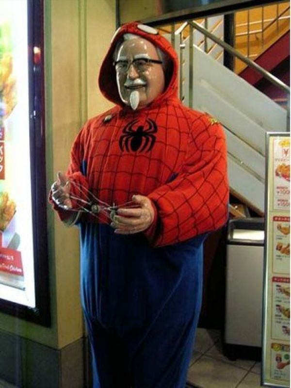 In Japan Statues Of Colonel Sanders Are Dressed In