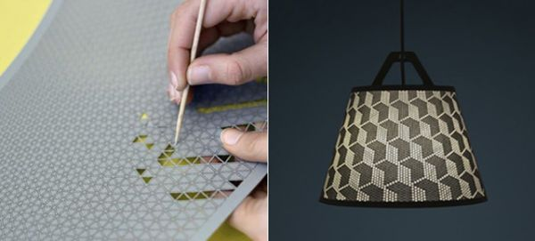 Punch out your own design on this diy lamp shade neatorama aloadofball Images