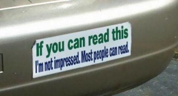 If none of these bumper stickers make you laugh then nothing will neatorama