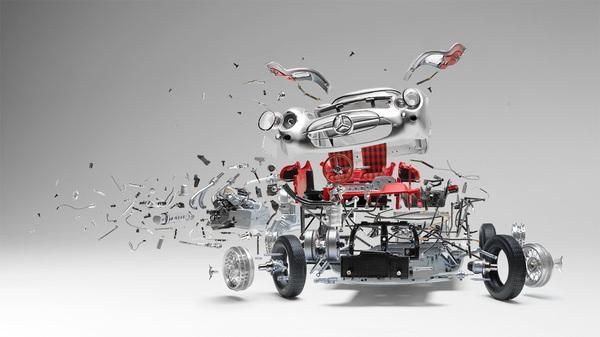 Exploded View Photographs Of Classic Cars - Neatorama