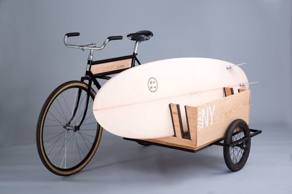 A Bicycle Sidecar Made Specifically for Hauling Surfboards - Neatorama