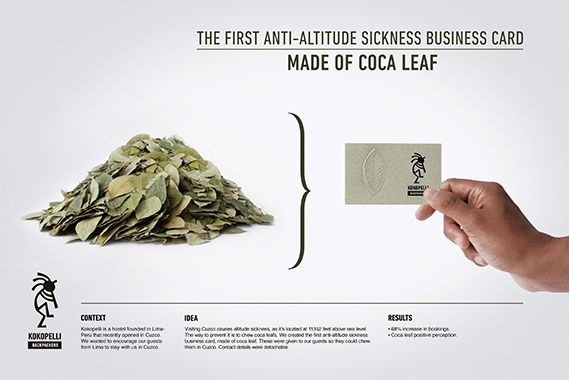 An Edible Business Card Made From Coca Leaf Neatorama
