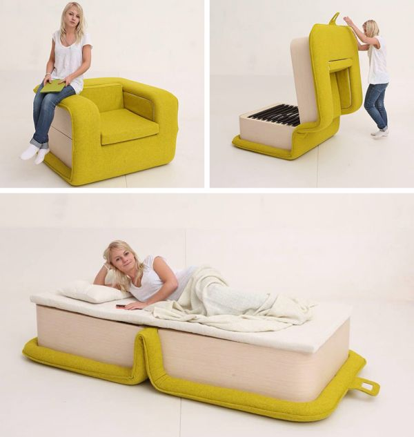 Superieur Elena Sidorova, A Furniture Designer In Moscow, Developed The FlOP, A  Combination Bed And Chair. When Itu0027s Time To Sleep, Flip The Chair Open.