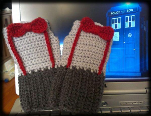 Doctor Who Crocheted Fingerless Gloves Neatorama