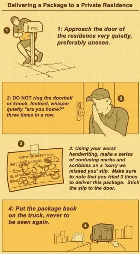 How Elite Package Delivery Drivers Work - Neatorama