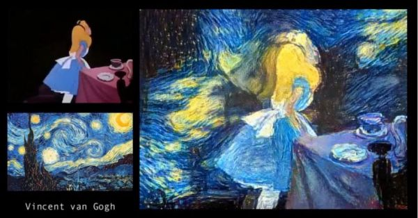 Trippy Video Shows Alice In Wonderland Remixed The Styles Of Famous Artists