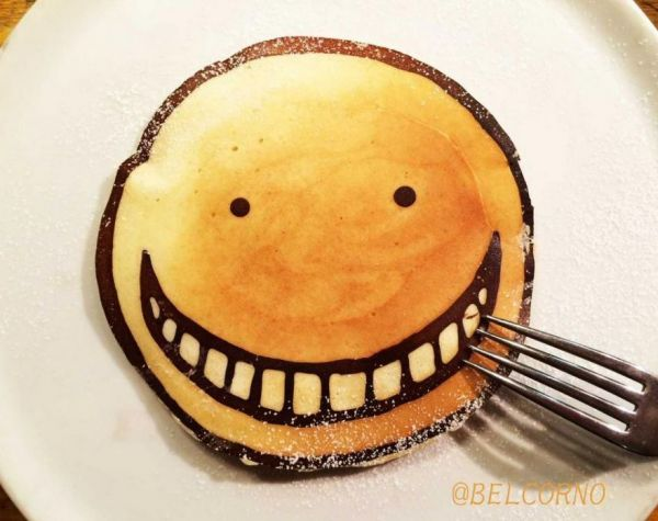 Anime pancake art neatorama our favorite characters in sweet pancake batter pictured above is a colossal titan from the series attack on titan if belcorno can add eggs or bacon ccuart Gallery