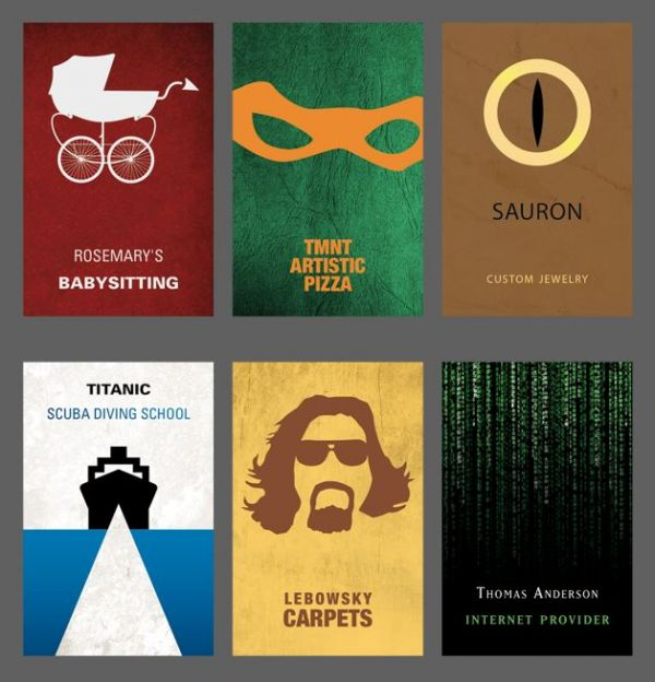 The business cards of movie characters neatorama colourmoves