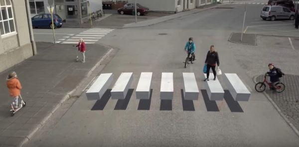 Trompe-l\'œil Crosswalk - Neatorama