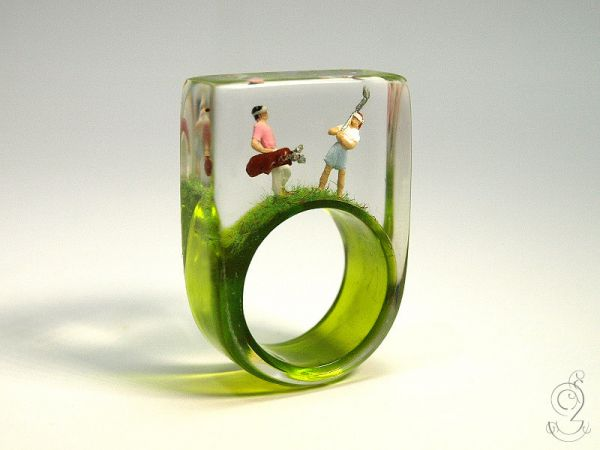 Rings That Contain Miniature Scenes